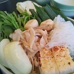 モリタ屋 JR京都伊勢丹店 - 春菊、玉ねぎ、豆腐、麩、ごぼう、京ねぎ                             しらたき♪