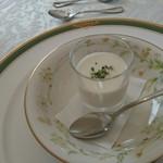 62247471 - 野菜のムース(カリフラワー)優しい味です。
