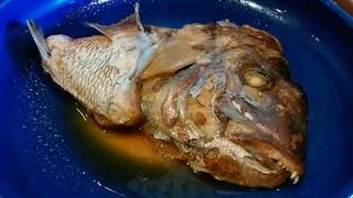 海鮮茶屋 五右エ門 - 「五右ェ門定食」の鯛のかぶと煮