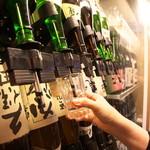 かいえん 海鮮と日本酒の専門店 - お好きな日本酒をグラスで楽しめる。