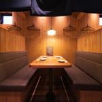 かいえん 海鮮と日本酒の専門店 - ~4名様対応のボックス席。
