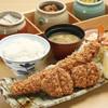 よし平 - 料理写真:超ジャンボ海老ひれかつ得々膳