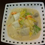味山 - 女性のお客様に大人気、牡蠣のクリーム煮。