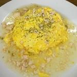 オムライス&cafe STYLE - 鶏ミンチのスープあんかけオムライス(季節商品)