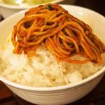 中国郷菜館 大陸風 - ラーズー麺 オンザライス