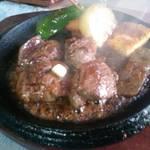 ステーキ&ワイン蔵 - 鹿肉のステーキ。