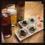 居酒屋いっぷく - 便ビール&カシスにお通し