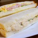ワンコインベーカリー - 料理写真:卵サンド、ツナサンド