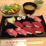 板前寿司 江戸 - まぐろにぎりセット