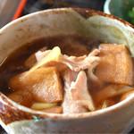 日炉勢 - 肉汁うどん(大盛)