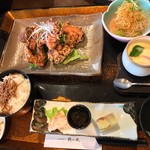 鶴の風 本館 - 料理写真:2月の日替り膳。梅 1058円