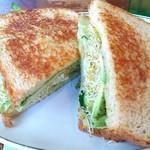 62283395 - ベジタリアンサンドイッチ。