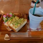 賀茂窯 - タマゴグラタントースト(700円)