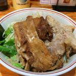 62285943 - 限定麺「汁無し 武者郎」特製トッピング