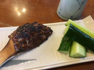 魚要 - そば味噌ときゅうり