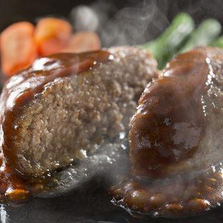 牛肉100%の「絶品ハンバーグ」