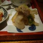 野菜割烹 あき吉 - 野菜の天麩羅(エリンギ、南瓜、さつま芋、モロッコインゲン)
