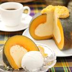 アンコール・ワット - かぼちゃケーキとココナッツアイスのセット