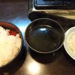神保町食肉センター - ライス&スープ&オニオンも食べ放題