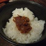 味噌鐡 カギロイ - 銀シャリとおかず味噌金山寺味噌(300円)!!今日いちばんの山場(笑)