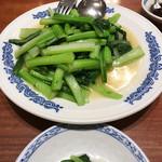 62292513 - 青菜のニンニク炒め