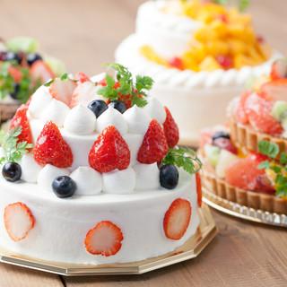 【とにかく人気の豪華バースデーケーキ(配達もあります)♪】