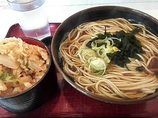 かくや 両国店 - かき揚げ丼セット¥630+特盛¥150
