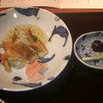 ごっ惣 - 穴子のひと炙り 胡瓜 生姜酢ゼリー