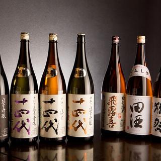 所沢では飲めないプレミア日本酒多数ご用意!