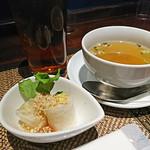 タイレストラン Smile Thailand - ランチスープとランチ生春巻