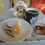オバーユ - 苺のクレープとオーガニックコーヒー