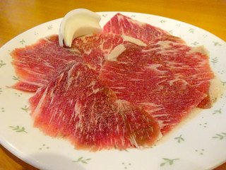 焼肉かおる - あか肉カルビー850円