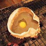 磯坊主 - 【New】カニ味噌甲羅焼き 混ぜてから焼く