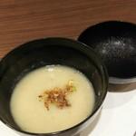 あなごと日本酒 なかむら - 1702 あなごと日本酒 なかむら 付きだし(粕汁)