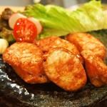 江戸前鮨と鶏 和暖 - 鶏ソーセージ揚げ