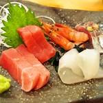 江戸前鮨と鶏 和暖 - 造り五種盛り合わせ