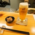 江戸前鮨と鶏 和暖 - 生ビール