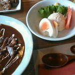 cafe 帆呂 horo - 本日のAランチ「ハヤシライス」。全体的に甘いかな…