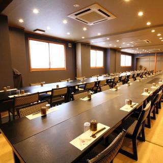 【宴会個室】通常20~30名・最大35名様まで収容可能です。