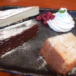 cafe Mizukinosho - お味噌で作ったケーキ チーズ・ショコラ・シフォン