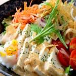 豆腐とたまごの和風ごまドレサラダ
