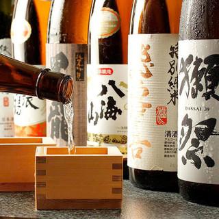 充実の日本酒!常時約40種!厳選の地酒