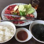 焼肉なんざん - Eランチ(牛カルビと牛ロース・和牛ホルモン)