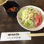 焼肉なんざん - ランチのサラダとキムチ