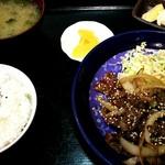 新長亭 - 黒毛和牛焼肉定食 650円