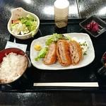 やきとりひびき庵 - 彩の国 黒豚メンチカツ定食