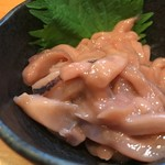 元祖美唄焼鳥 三船 - 自家製いか塩辛 350yen