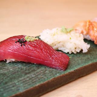 産地にこだわった新鮮な鮨