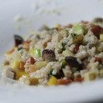 たっぷり季節野菜のパルミジャーノ玄米リゾット