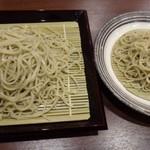 蕎麦おざき - ◆「二八そば」の「もり(800円)」と「小盛(600円)」をオーダー。 結構量が違うような・・(^^;)